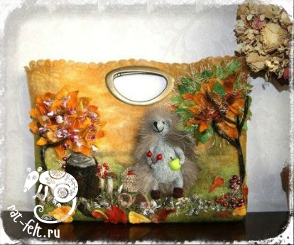 Валяная сумка Сумка Екатерины Тасминской