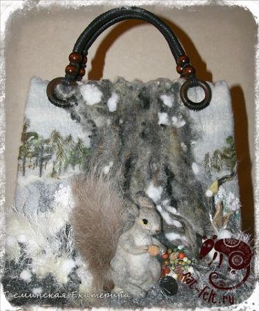 Валяная сумка Сумка Екатерины Тасминской 3