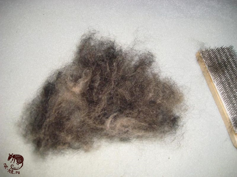 как смешать шерсть для валяния