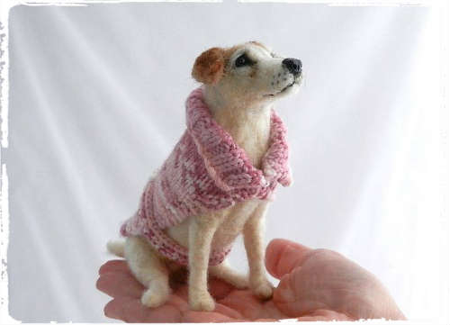 needle felted jack russell