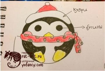 пингвин-набросок