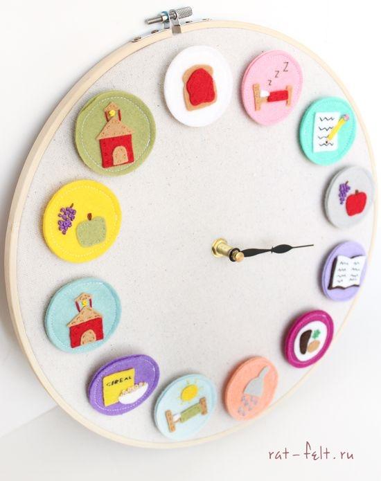 Детские часы режим дня