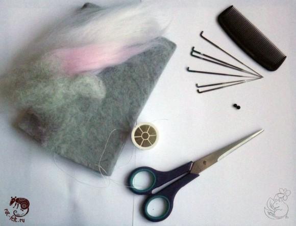 Материалы для валяния крысенка
