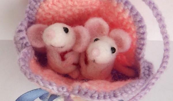 Мыши из валяной шерсти