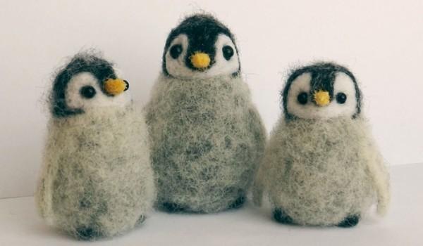Пингвины из шерсти для валяния
