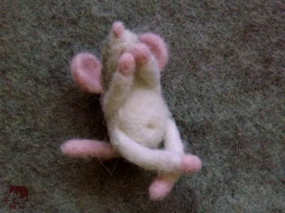 тушка крысенка валяная