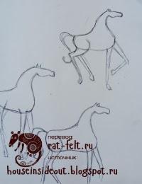 Эскиз лошади