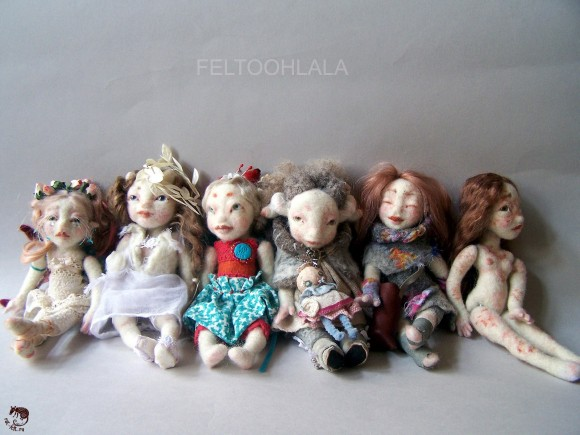 Feltohlala - коллекция валяных кукол