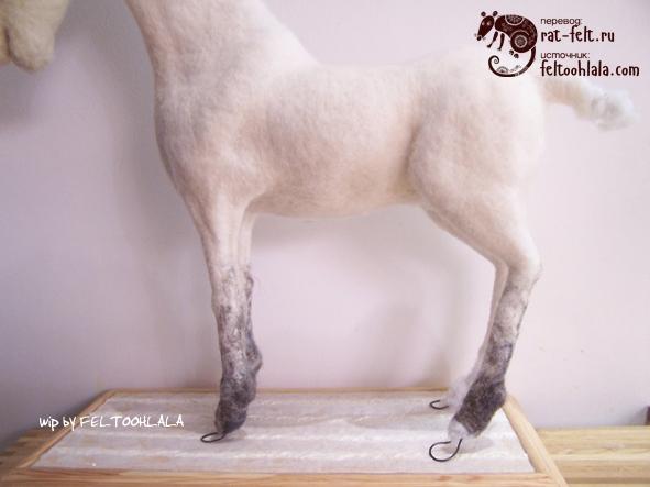 Шерстяная скульптура-единорог от Feltoohlala