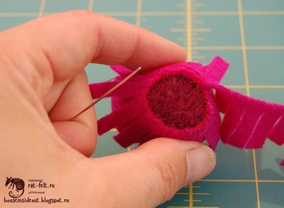 Как сделать цветок из фетра и шерсти для валяния