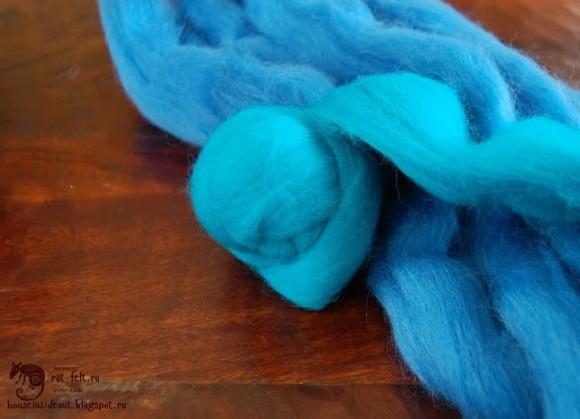 Гребенная лента синего цвета