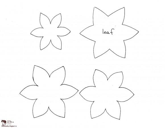 Шаблон для цветочной брошки из фетра