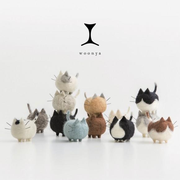 Шерстяные котики - колбаски от японского мастера