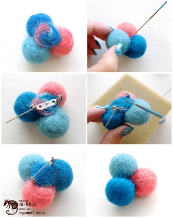 Собираем молекулу из шариков шерсти