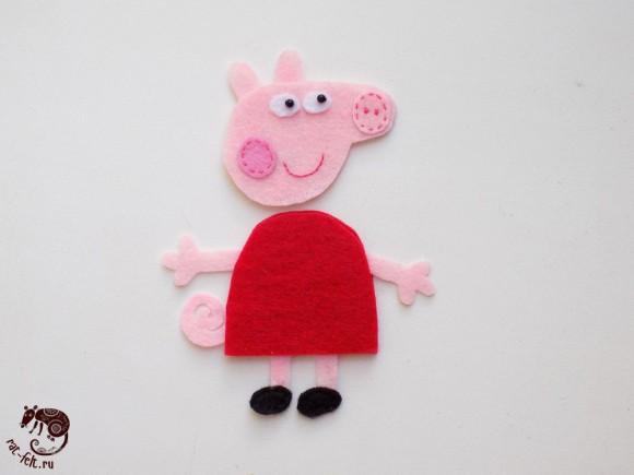 Не сшитая свинка