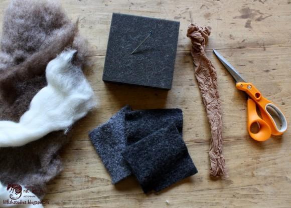 Материалы для мокрого валяния камушков