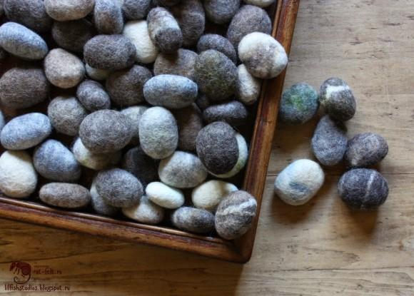 Коробка шерстяных камней