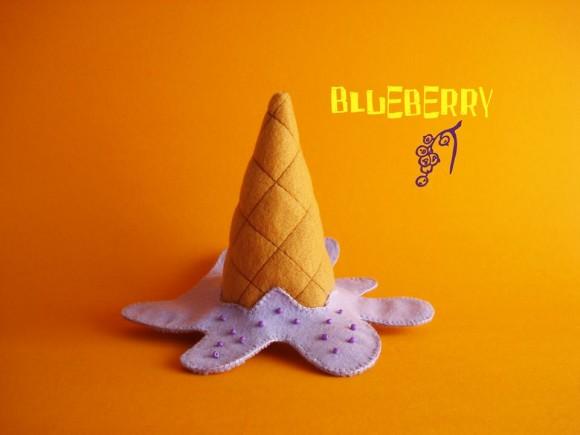 Черничное морожено