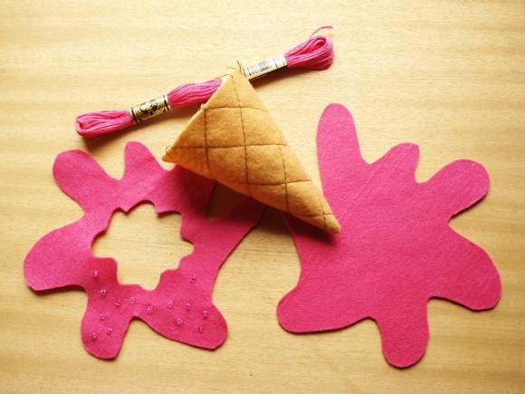 Детали фетрового мороженого