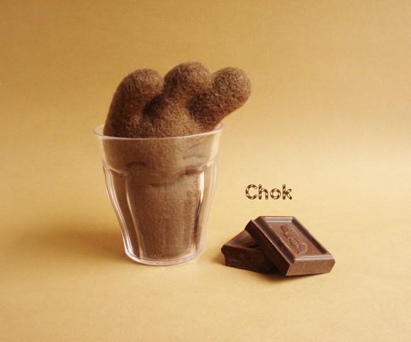 Шерстяное шоколадное молоко