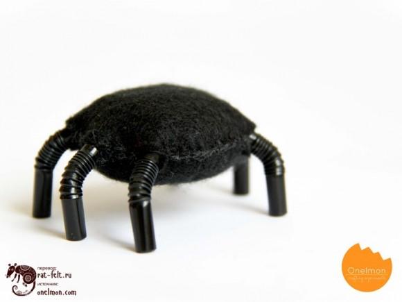 Будущий паук твердо стоит на ногах