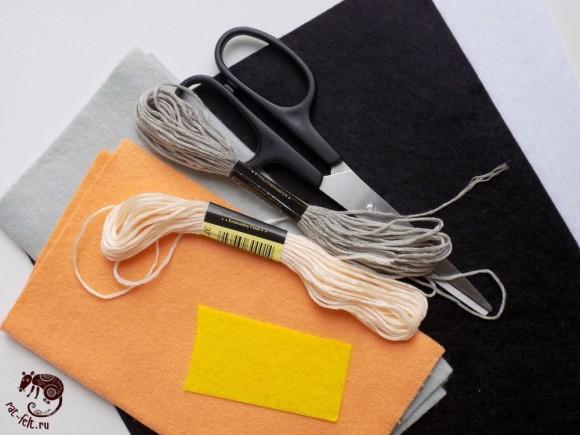 Материалы для шитья фетровой совы