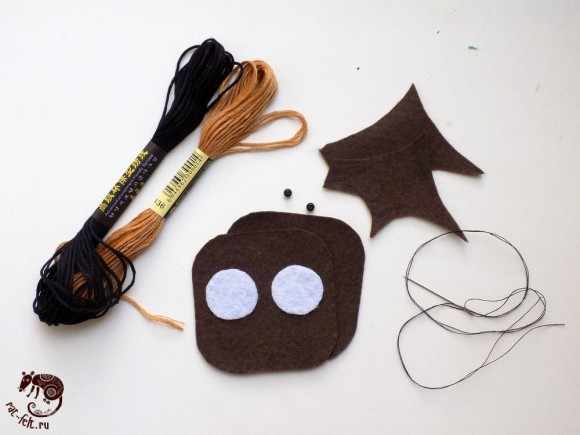 Материалы для шитья летучей мыши