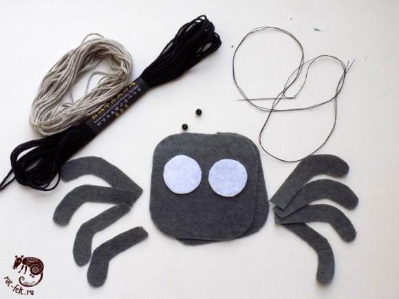 Материалы для шитья паучка