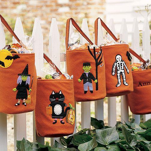 Хэллоуинские сумки с конфетами