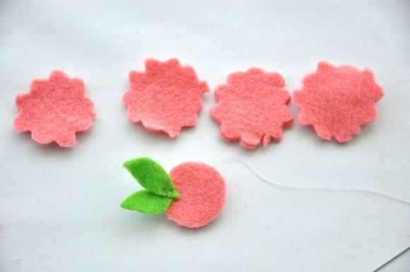 Заготовки для фетровой розы