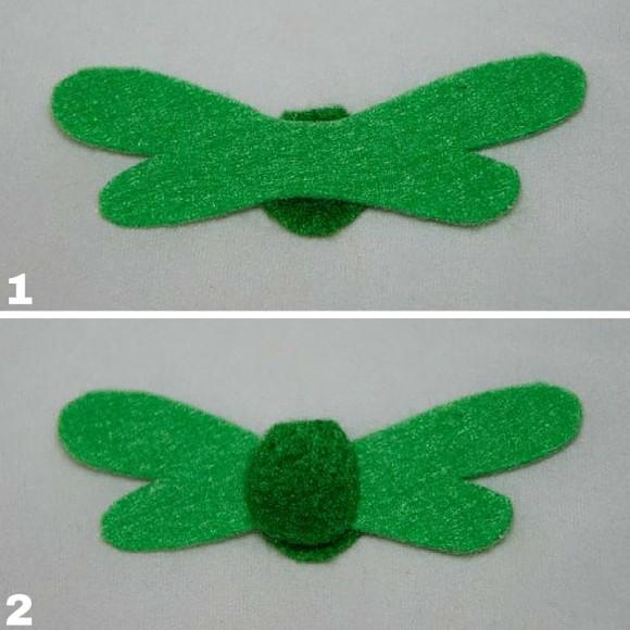 Прикрепление крыльев стрекозы