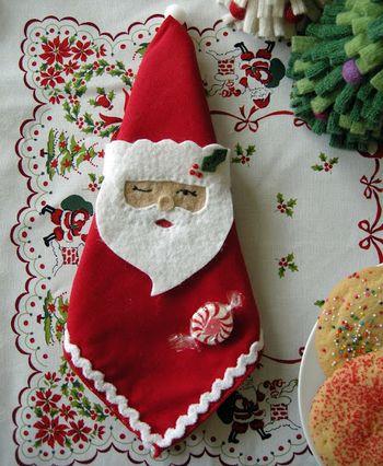 Держатель рождественских салфеток Betz White