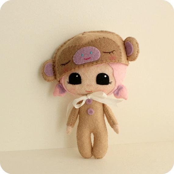 Девочка в костюме обезьяны Gingermelon