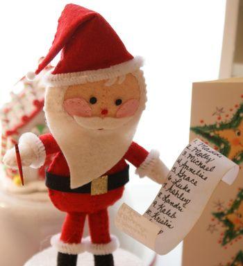 Симпатичный Санта на подставке от HollyC