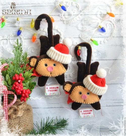 Новогодние обезьянки от Маргарита Spirina с ЯМ