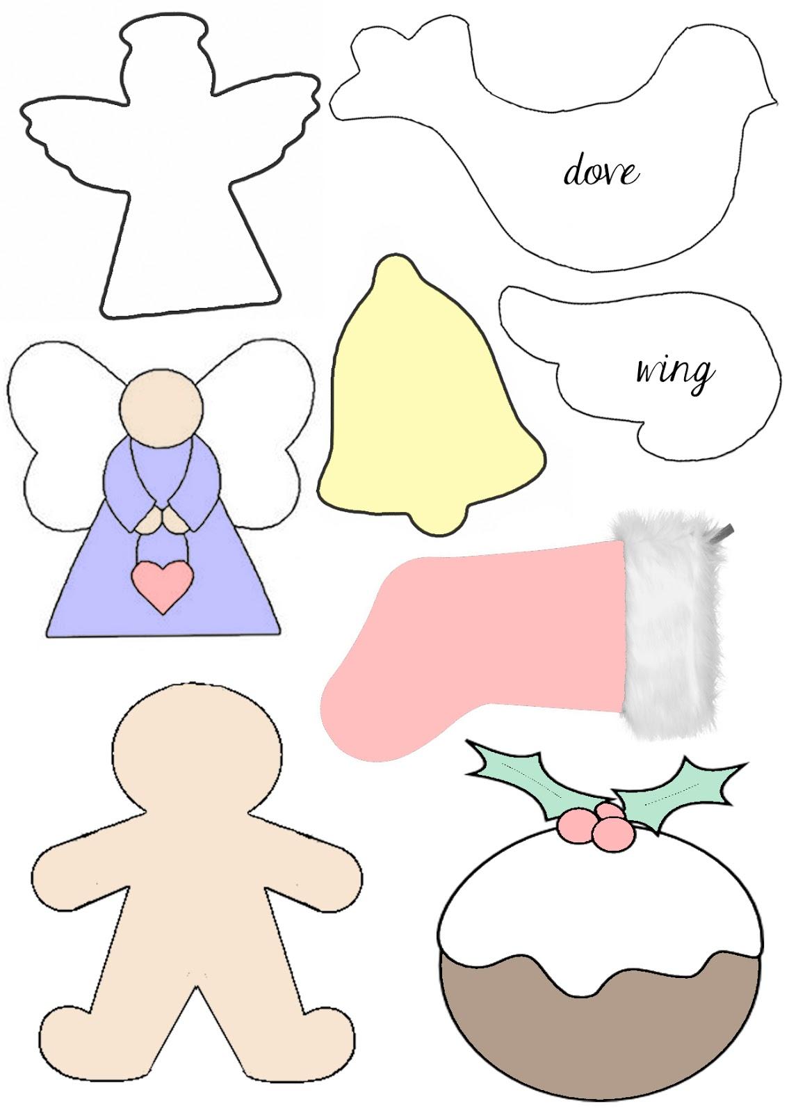 Елочные игрушки своими руками шаблон