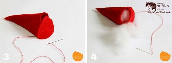 Сшивание и наполнение конуса