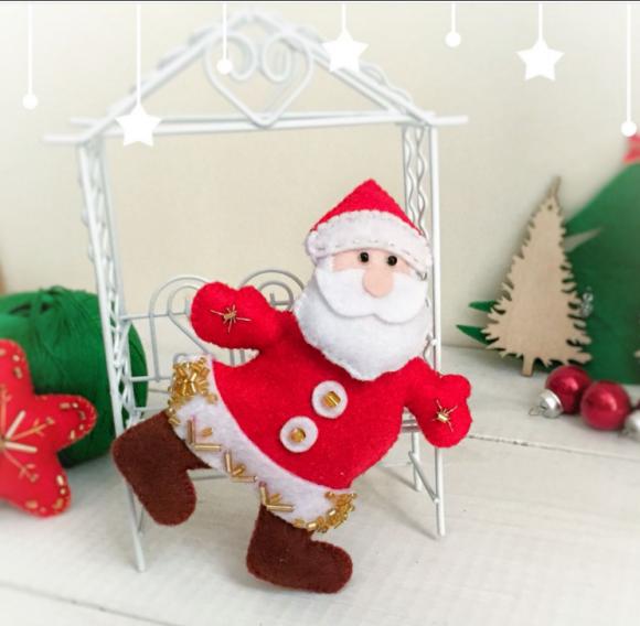 Бегущий Дед Мороз от Екатерины Шепеленко