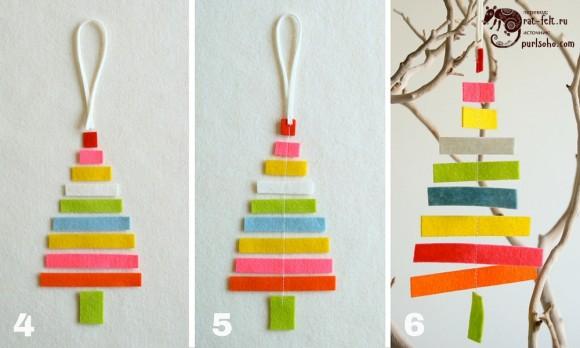 Этап 2 создания елки - сшивание деталей