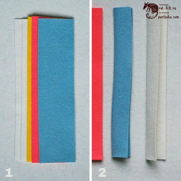 Нарезка материалов для елочной игрушки - капли