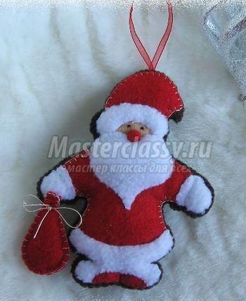Фетровый Дед Мороз на елку от masterclassy