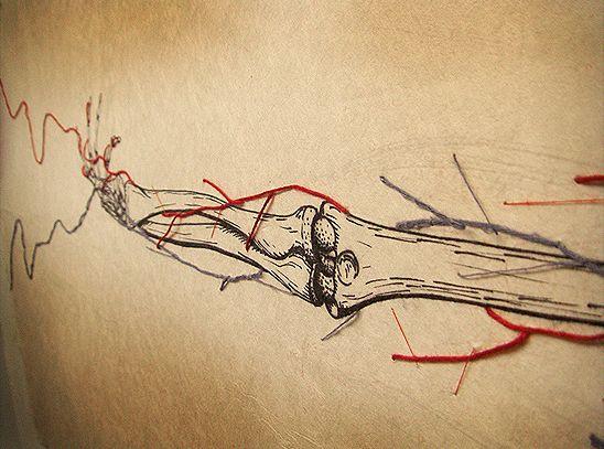 Кровеносные сосуды из нитей