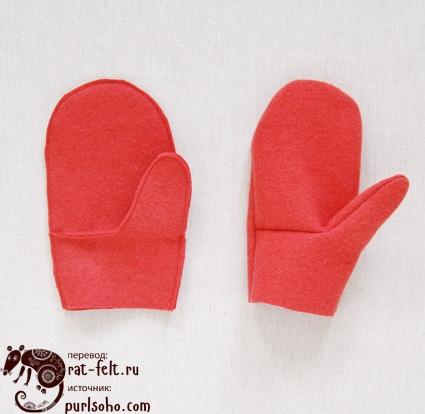 Прошивка рукавиц второй этап