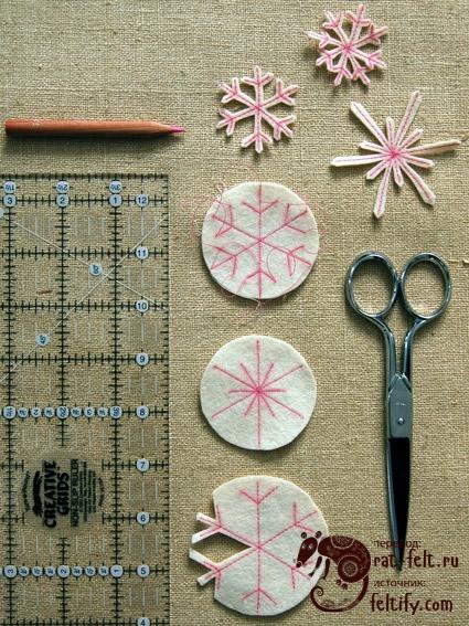 Снежинки и инструменты для их изготовления