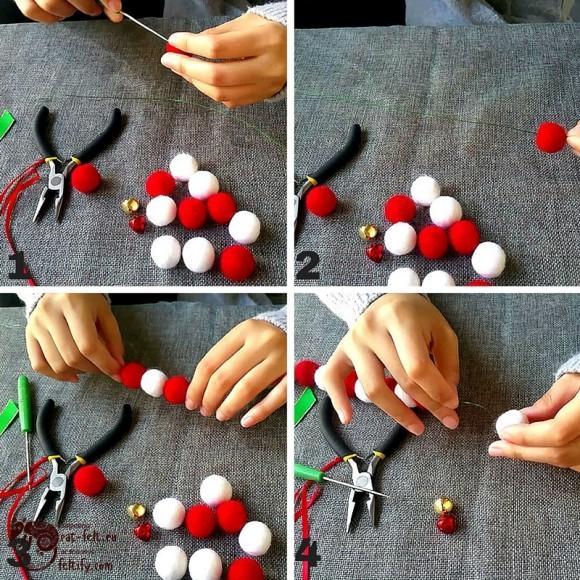 Этапы создания трости из шариков