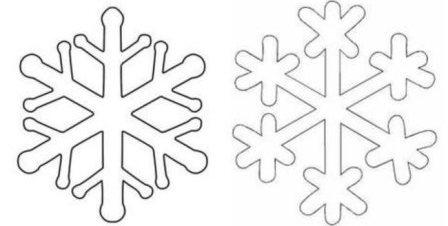 Снежинки трафарет своими руками