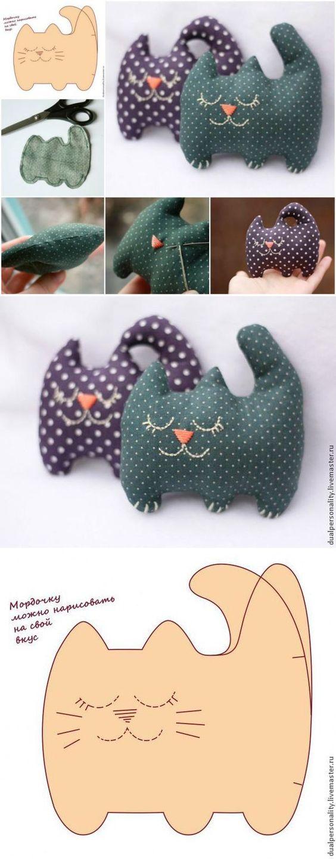 Котики из ткани своими руками фото
