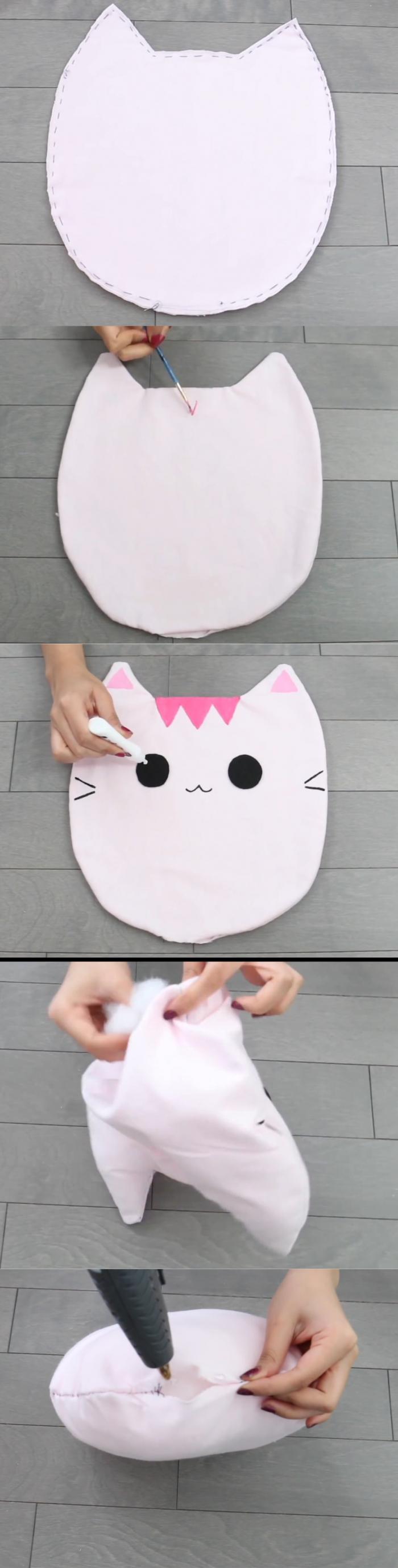 Как сшить подушку животное своими руками