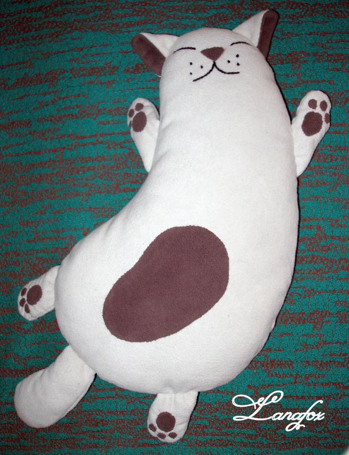 Кот игрушка подушка своими руками
