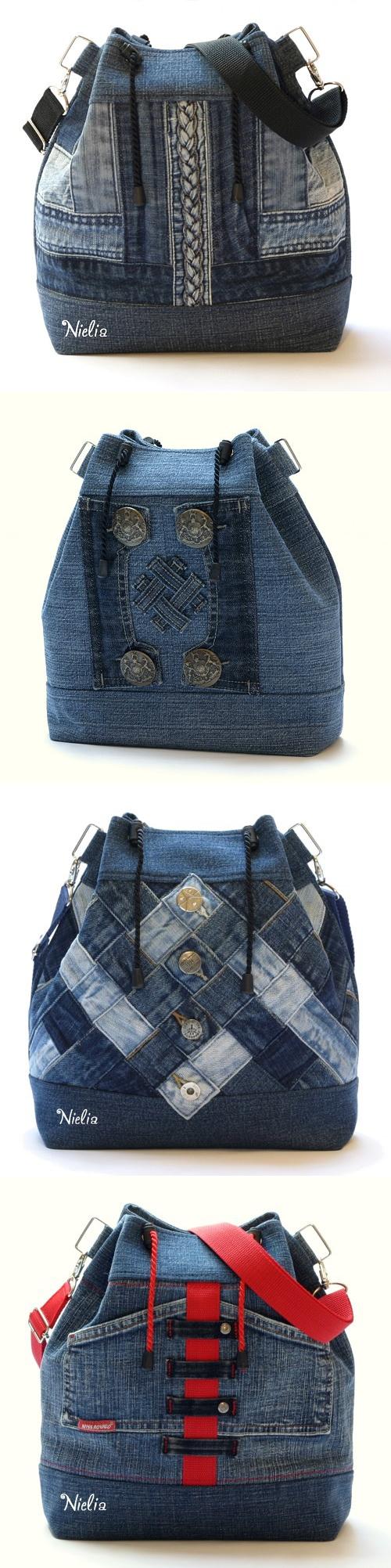 2aeb05584611 Видео мастер-классы созданию сумок из джинсов своими руками